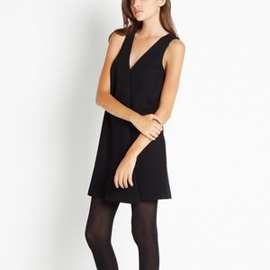 BCBGeneration Front Pleat Shift Dress Black 4